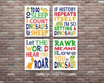 Dinosaur Decor,Dinosaur Wall Art,Dinosaur Set,INSTANT DOWNLOAD,Dinosaur Art,Boys Nursery Decor,Boys Room Wall Art,Baby Boy Nursery Art