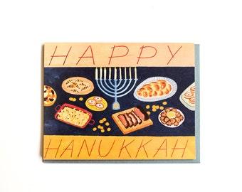 Hanukkah Feast Card