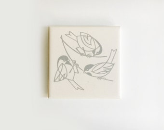 Mid-Century Modern Bird Trivet or Wall Tile by Mosaic Tile Company