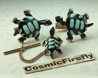 SWANK Brand Vintage Cufflinks Vintage Turtle Cufflinks Steampunk Cufflinks Men's Cufflinks Antique Cufflinks