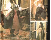 Exotic Harem Belly Dancer, Genie Costume Sewing Pattern Simplicity 5359 Halloween Size 6, 8, 10, 12 Bust 30.5 31.5 32.5 34