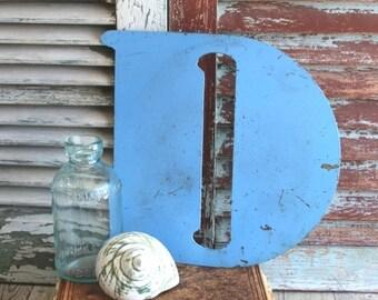 Letter D Initial D Vintage Metal Sign by avintageobsession on etsy