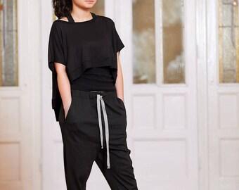 Womens Pants, Plus Size Pants, Women Yoga Pants, Loose Pants, Black Trousers, Black Pants, Pocket Pants, Oversized Pants, Workout Pants