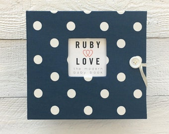 Navy Polka Dot | BABY BOOK