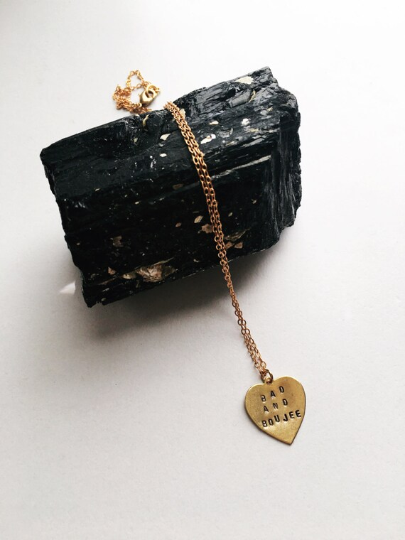 Bad and boujee MIGOS heart charm necklace