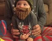 NB Long Beard Camouflage baby bearded hat knit baby hats crochet hat lumberjack photo prop crochet bearded beanie cap hat and beard beanie