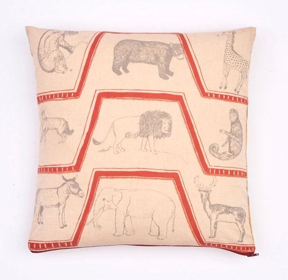 SALE * Attenborough Cushion Pillow - Life of Mammals