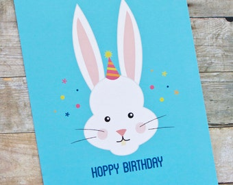 Hoppy Birthday Rabbit Birthday Card