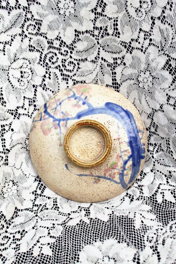 Rare Ogata Kenzan pottery/ Japanese KENZAN KYOTO Ware Pottery/Made in Japan G.O Kyoto Plate/G.O. Pottery Kyoto Japan/