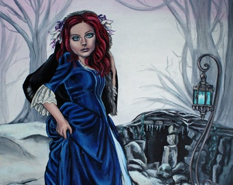 steampunk gothic fantasy fine art print behind her eyes