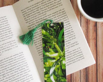 Yellow Wattle Bookmark with Tassell. -Australian Native Flowers- Photo Bookmark - Page Marker - Mothers Day