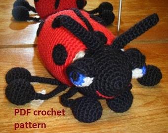 Great Big Ladybug - crochet pattern PDF