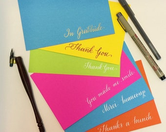 Set of Thank You cards (6)