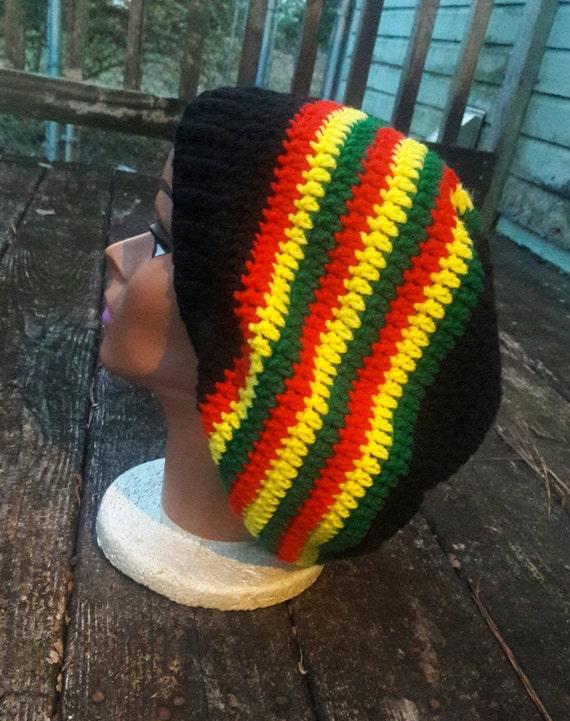 Rasta reggae hippie slouch beanie hat