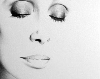 Cher Original Pencil Portrait Minimalism