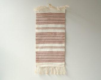 Vintage Runner, Woven Runner, Table Runner, Textile Weaving
