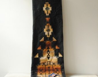 Vintage Pendleton Beaver State Blanket, Unused with Tag, Black and Tan, Native American