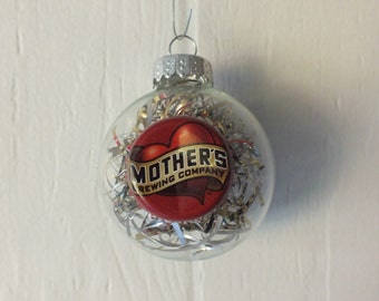 Mother's Beer Ornament - Recycled Beer Can & Bottle Cap