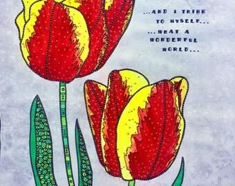 Wonderful Tulips Fine Art Prints 8x10 11x14 or 16x20