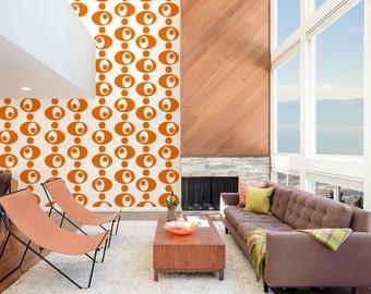 Mid Century Modern Decor, Retro Wall Decal, Circle Wall Decals, Geometric Wall Decal, Nursery Wall Decal, Modern Wall Pattern, Modern Design