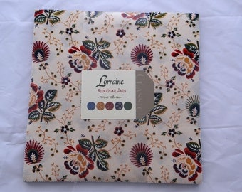 """Provence LORRAINE Moda Fabric Layer Cake French Country American Jane precuts sewing quilting maker 10"""" squares Sandy Klop"""