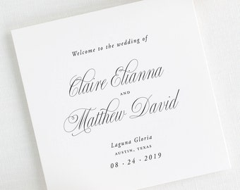 Garden Elegance Wedding Programs - Deposit