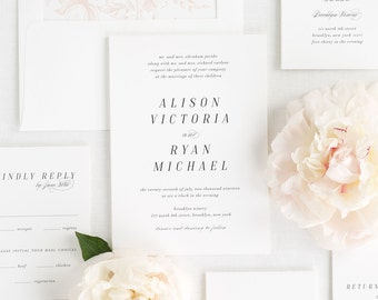Alison Wedding Invitations - Deposit