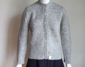 Vintage 50s NOS Jane Marshall Wool Mohair Knit Cardigan Sweater S