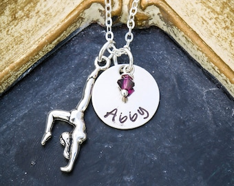 Gymnast Gift • Gymnast Necklace • Gymnastics Coach Gift • Girls Gymnast Charm • Personalized Gymnastics Class Gifts •  Gymnast Friend Gifts