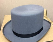 Mens Top Hat Planar Merino Wool Gray Vintage XXL