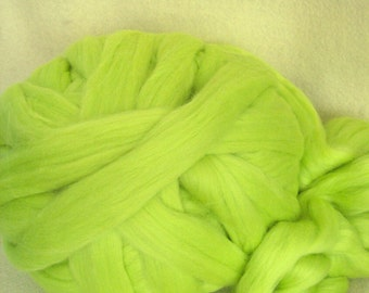 Wool Roving, Corriedale Roving, Hand Spinning Roving, Dyed Commericial Roving, 2 oz