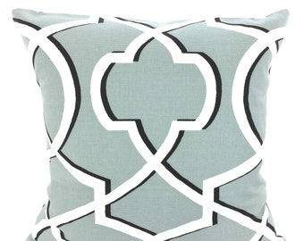 Gray Pillow Covers, Decorative Throw Pillows, Cushions, Cool Grey Black White Morrow, Couch Bed Sofa Pillows, One or More ALL SIZES