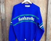 Vintage Seattle Seahawks Sweater by Cliff Engle USA - New Old Stock - L/XL