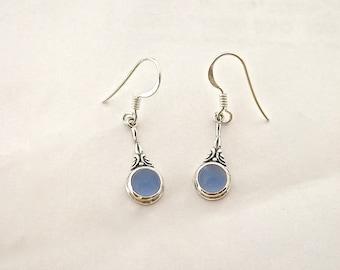 Blue Earrings, Birthstone Earrings, Bridesmaid Jewelry, Earrings, Silver Earrings, Silver Earrings Dangle, Handmade Jewelry, Artisan Jewelry