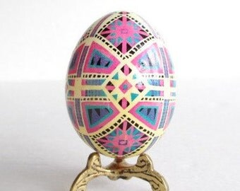 Pink and Blue Pysanka Ukrainian Easter eggs so perfect for baby baptism gift or baby shower First  keepsake sweet nursery decor