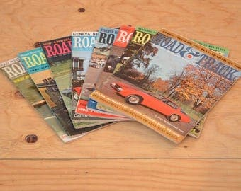 Vintage Set Of Eight 1965 Road & Track, Classic Collector Car Magazines