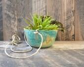 D E S E R T  R A I N : ceramic hanging planter