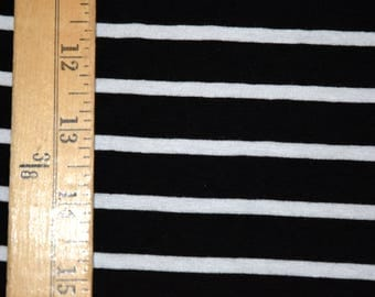 Black and white striped Jersey Knit Fabric Stripe Stripe Jersey knit Stripes black White gothic goth punk rocker rayon stretchy stretch emo