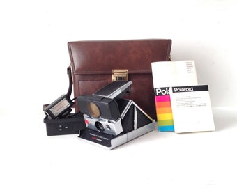 POLAROID camera sx - 70 sonar SLR vintage rare ONE step camera with case expired film - Tested & Works
