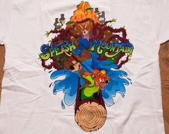 NWT Splash Mountain T-Shirt, Walt Disney World Resort L Tee, Vintage 90s, Brer Rabbit Song of the Soung Cartoon Movie I Survived the Ride