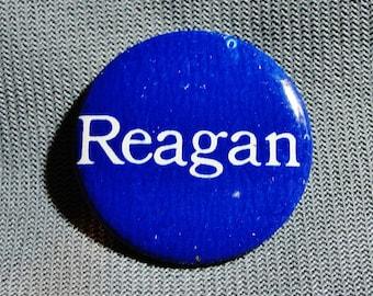 """Vintage Reagan Campaign Pinback Button Badge, 1-1/8"""""""