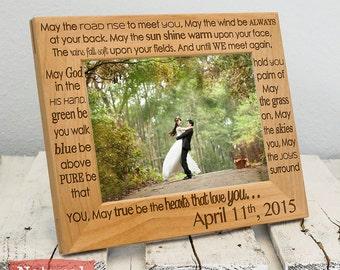 Irish Blessing - Personalized Wedding Blessing Frame-Personalized Wedding Gift -Wood Engraved-Wedding Gift-Wedding Memento