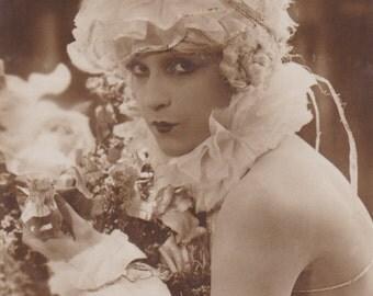 Silent Film Star, Lily Damita, as Pierrette, circa 1920s. A Cinemagazine Edition.