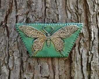 Butterfly Garden Art Gift for Her, Stone Sculpture, Original Wall Plaque, Outdoor Wall Art, Butterfly Home Decor