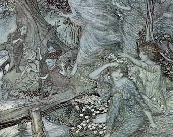 Wood Nymphs, Arthur Rackham, Vinatge Art Print