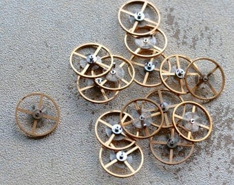 Vintage wrist  watch balance wheels -- set of 15 or 20 -- D9