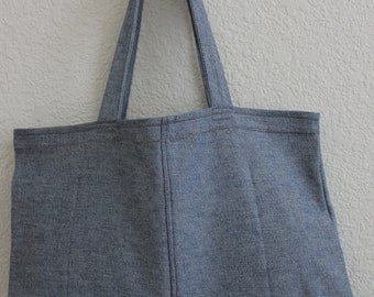 Large Denim Tote Bag/ Shopping Bag/ Upcycled Bag