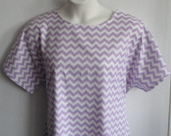 XL  Post Surgery FLANNEL Nightgown- Breast Cancer - Shoulder Surgery - Mastectomy / Hospital / Adaptive Clothing / Breastfeeding