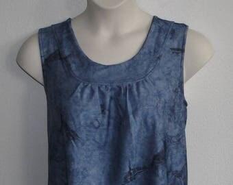 L -- Post Surgery Shirt - Shoulder, Breast Cancer, Mastectomy, Heart / Special Needs / Adaptive Clothing / Rehab/ Breastfeeding-Style Sara