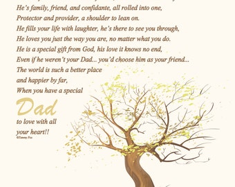 Father's Day Gift To Dad from Daughter-To Dad from Son-To Dad from Siblings-Christmas-Birthday-Thank You Gift-Throughout Your Life Poem